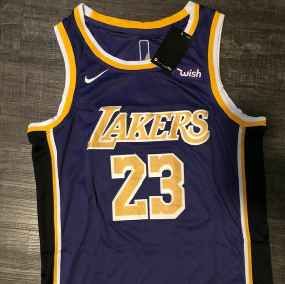new styles b2bce 45d95 Los Angeles Lakers #23 Lebron Purple Jersey NWT